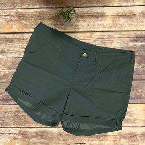 The North Face Army Green Roll Up Hiking Shorts